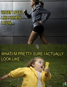 Running - What I actually look like vs. What others see