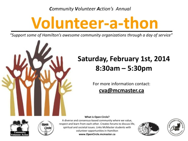 Poster for Volunteer-a-thon 2014