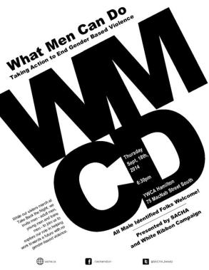 What Men Can Do Poster - event for men is at 6:30 pm on September 18